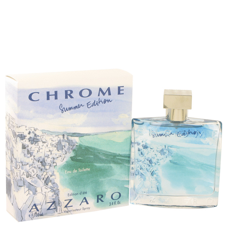 Chrome Summer by Azzaro for Men Eau De Toilette Spray (Limited Edition 2013) 3.4 oz