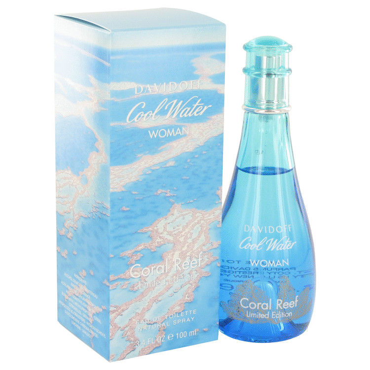 Cool Water Coral Reef by Davidoff for Women Eau De Toilette Spray (Limited Edition) 3.4 oz