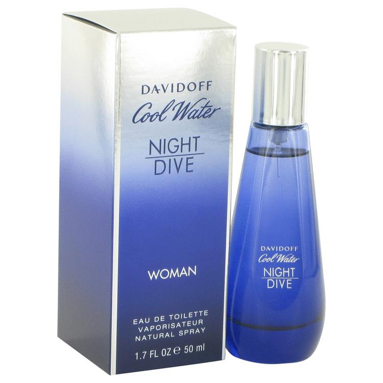 Cool Water Night Dive by Davidoff for Women Eau De Toilette Spray 1.7 oz