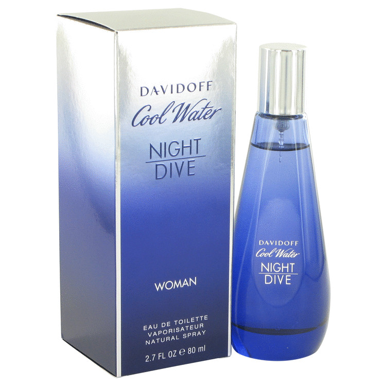 Cool Water Night Dive by Davidoff for Women Eau De Toilette Spray 2.7 oz
