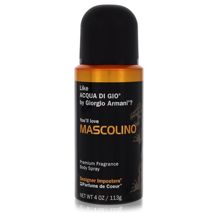 Designer Imposters Mascolino by Parfums De Coeur for Men Body Spray 4 oz