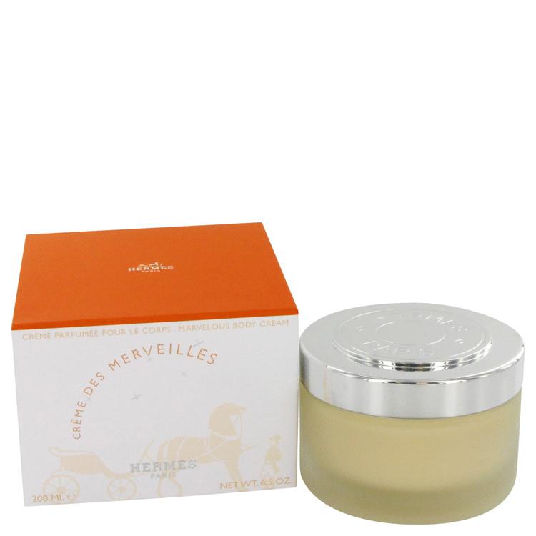 Eau Des Merveilles by Hermes for Women Body Cream 6.7 oz