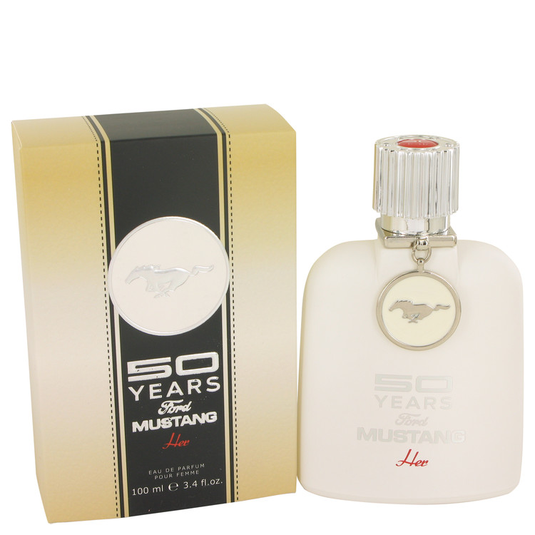 50 Years Ford Mustang by Ford for Women Eau De Parfum Spray 3.4 oz