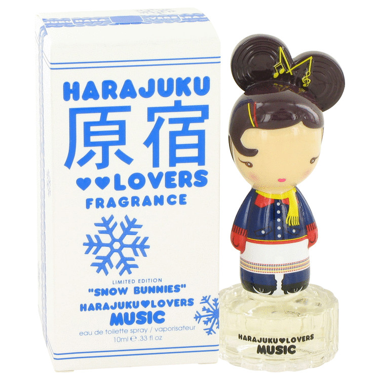 Harajuku Lovers Snow Bunnies Music by Gwen Stefani for Women Eau De Toilette Spray .33 oz