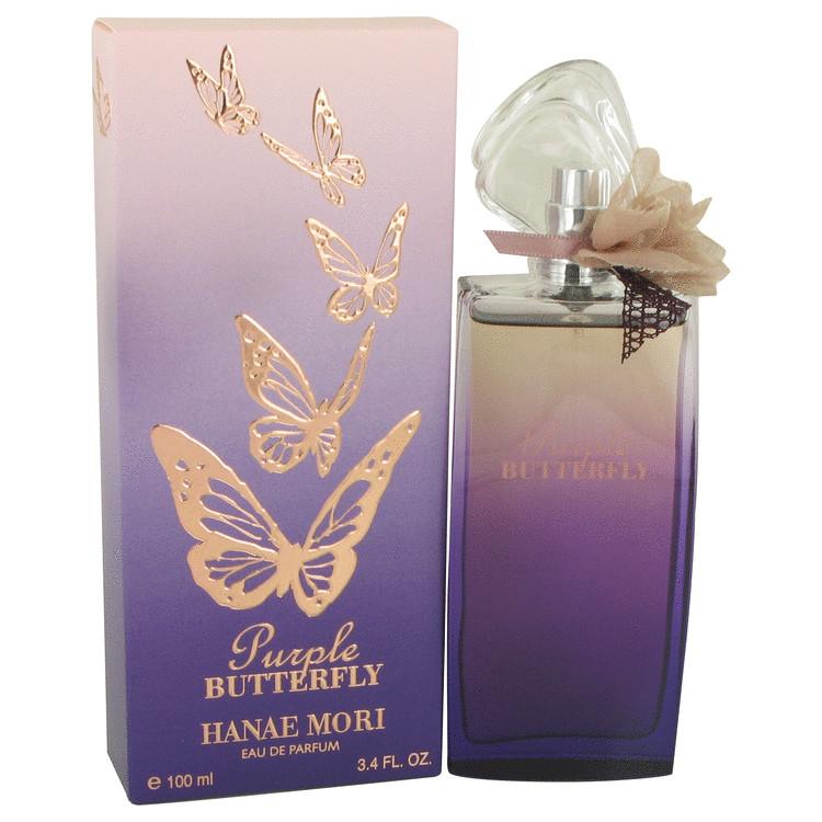 Hanae Mori Purple Butterfly by Hanae Mori for Women Eau De Parfum Spray 3.4 oz