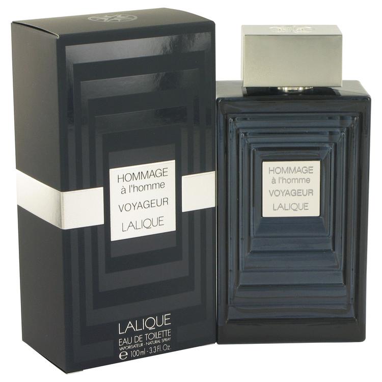 Hommage A L'homme Voyageur by Lalique for Men Eau De Toilette Spray 3.3 oz
