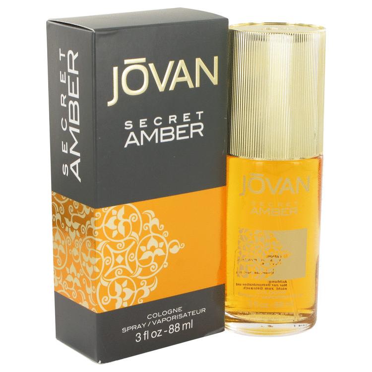 Jovan Secret Amber by Jovan for Women Cologne Spray 3 oz