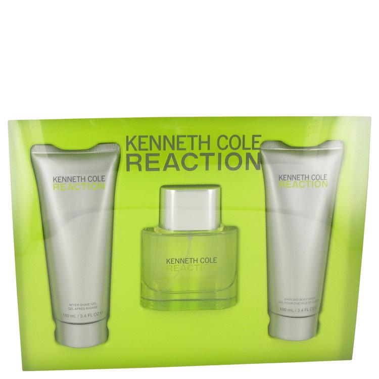 Kenneth Cole Reaction by Kenneth Cole for Men Gift Set -- 1.7 oz Eau De Toilette Spray + 3.4 oz Shower Gel + 3.4 oz After Shave
