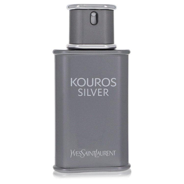 Kouros Silver by Yves Saint Laurent for Men Eau De Toilette Spray (Tester) 3.4 oz