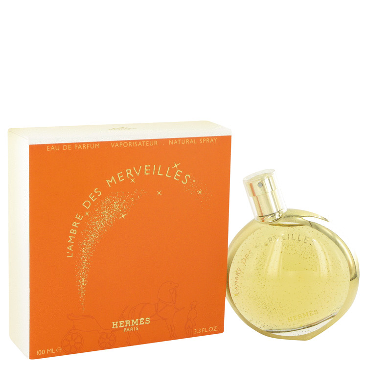 L'ambre Des Merveilles by Hermes for Women Eau De Parfum Spray 3.3 oz