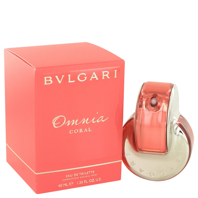 Omnia Coral by Bvlgari for Women Eau De Toilette Spray 1.4 oz