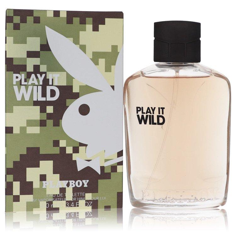 Playboy Play It Wild by Playboy for Men Eau De Toilette Spray 3.4 oz