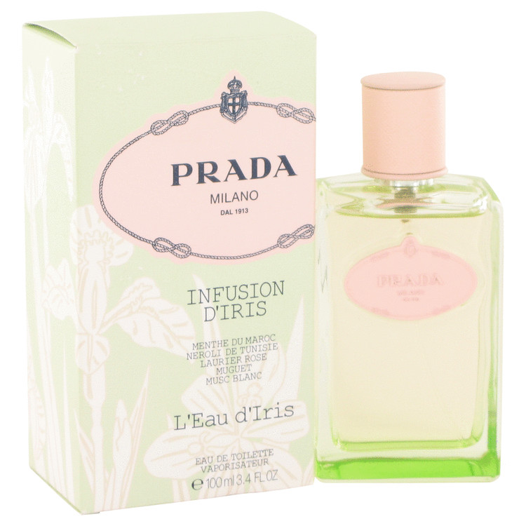 Prada Infusion d'Iris L'eau D'iris by Prada for Women Eau De Toilette Spray 3.4 oz