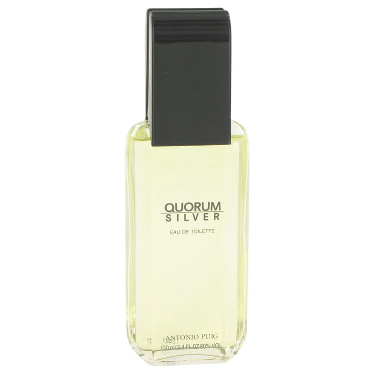 Quorum Silver by Puig for Men Eau De Toilette Spray (Tester) 3.4 oz