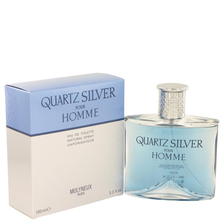Quartz Silver by Molyneux for Men Eau De Toilette Spray 3.4 oz
