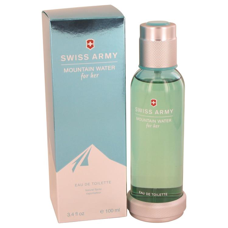 Swiss Army Mountain Water by Swiss Army for Women Eau De Toilette Spray 3.4 oz