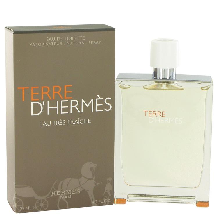 Terre D'Hermes by Hermes for Men Eau Tres Fraiche Eau De Toilette Spray 4.2 oz