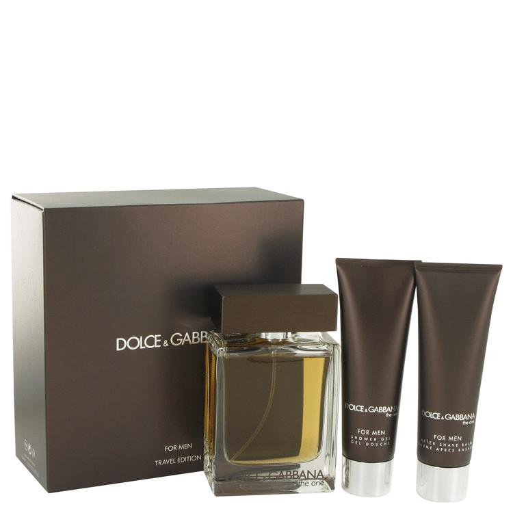 The One by Dolce & Gabbana for Men Gift Set -- 3.4 oz Eau De Toilette Spray + 1.7 oz Shower Gel + 1.7 oz After Shave Balm