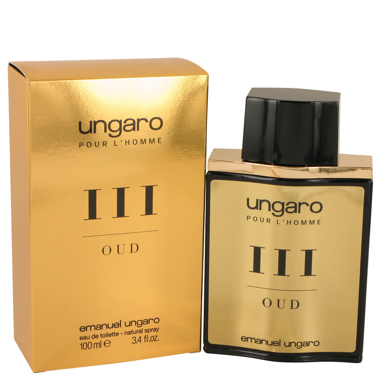 Ungaro Pour L'homme III Oud by Ungaro for Men Eau De Toilette Spray 3.4 oz