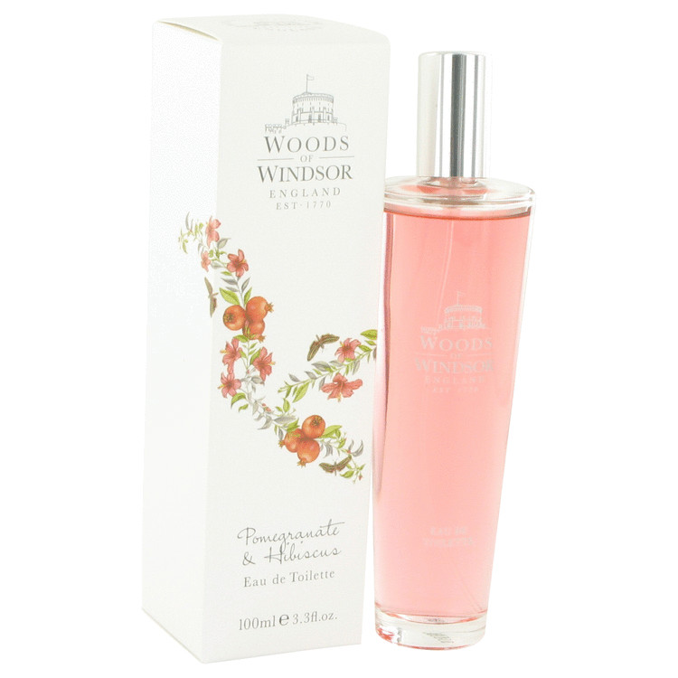 Pomegranate & Hibiscus by Woods of Windsor for Women Eau De Toilette Spray 3.4 oz
