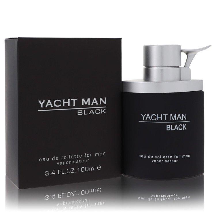 Yacht Man Black by Myrurgia for Men Eau De Toilette Spray 3.4 oz