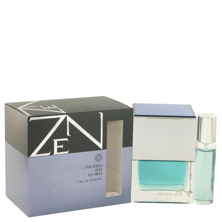 Zen by Shiseido for Men Eau De Toilette Spray Plus Free 1/2 oz Mini Spray 3.4 oz