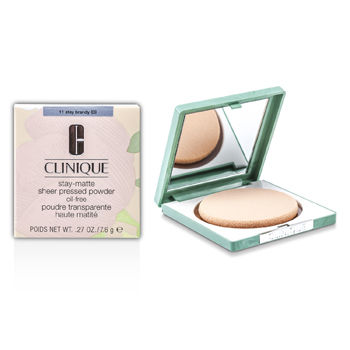 Clinique Make Up 0.27 oz Stay Matte Powder Oil Free - No. 11 Stay Brandy