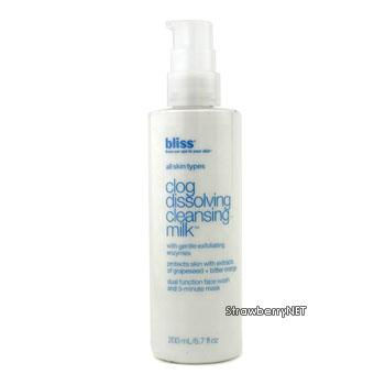 Bliss Skincare 6.7 oz Clog Dissolving Cleansing Milk