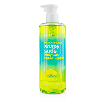 Bliss Skincare 16 oz Lemon + Sage Soapy Suds (Body Wash + Bubbling Bath)