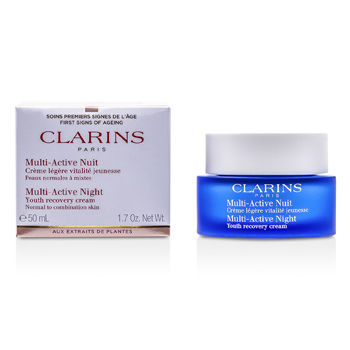 Clarins Skincare 1.7 oz Multi-Active Night Youth Recovery Cream (Normal to Combination Skin)