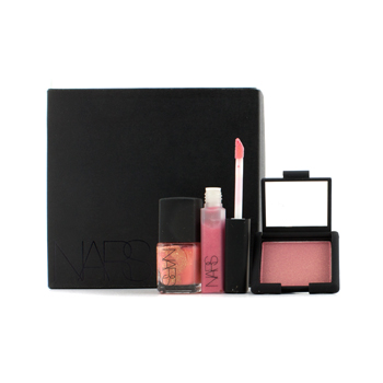 NARS Make Up 3pcs Yorokobi Set (Mini Blush, Mini Lip Gloss, Nail Polish)