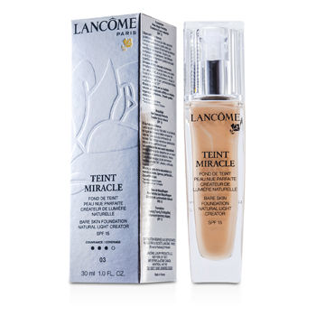 Lancome Make Up 1 oz Teint Miracle Bare Skin Foundation Natural Light Creator SPF 15 - # 03 Beige Diaphane