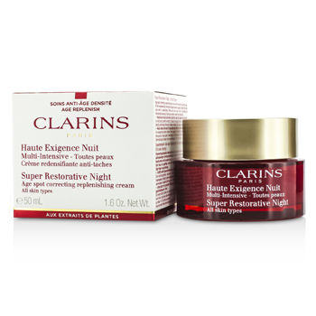 Clarins Skincare 1.6 oz Super Restorative Night Age Spot Correcting Replenishing Cream