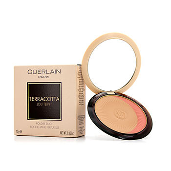 Guerlain Make Up 0.35 oz Terracotta Joli Teint Natural Healthy Glow Powder Duo - # 02 Naturel/Natural Blondes