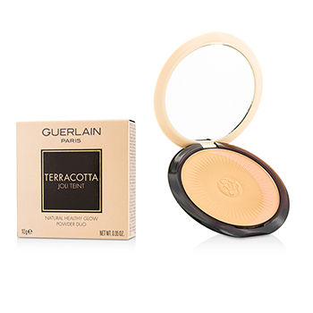 Guerlain Make Up 0.35 oz Terracotta Joli Teint Natural Healthy Glow Powder Duo - # 03 Naturel/Natural Brunettes