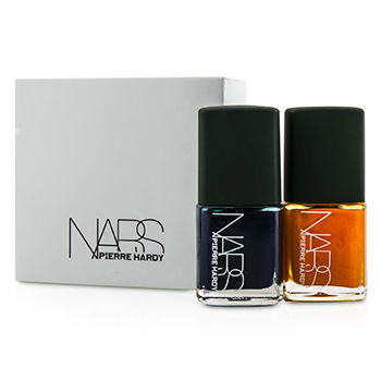 NARS skincare 2 x 0.5 oz Pierre Hardy Ethno Run Nail Polish Duo (1x Dark Blue, 1x Bright Orange)