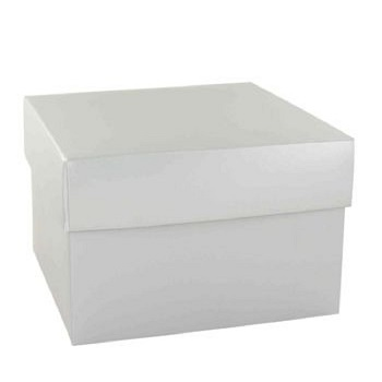 Gift Box Skincare 6 x 6 x 4 Two Piece Silver Box