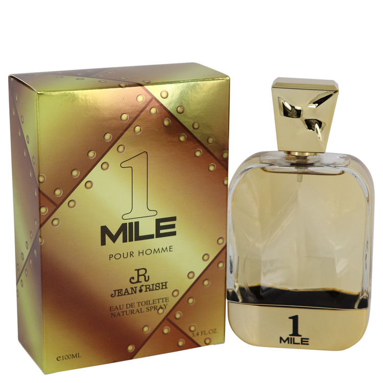 1 Mile Pour Homme by Jean Rish for Men Eau De Toilette Spray 3.4 oz