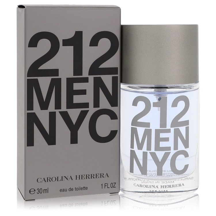 212 by Carolina Herrera Men's Eau De Toilette Spray (New Packaging) 1 oz