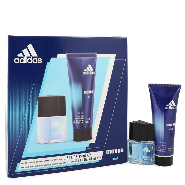 Adidas Moves by Adidas-Men-Gift Set -- .5 oz Eau De Toilette Spray + 2.5 oz Hair & Body Wash Image