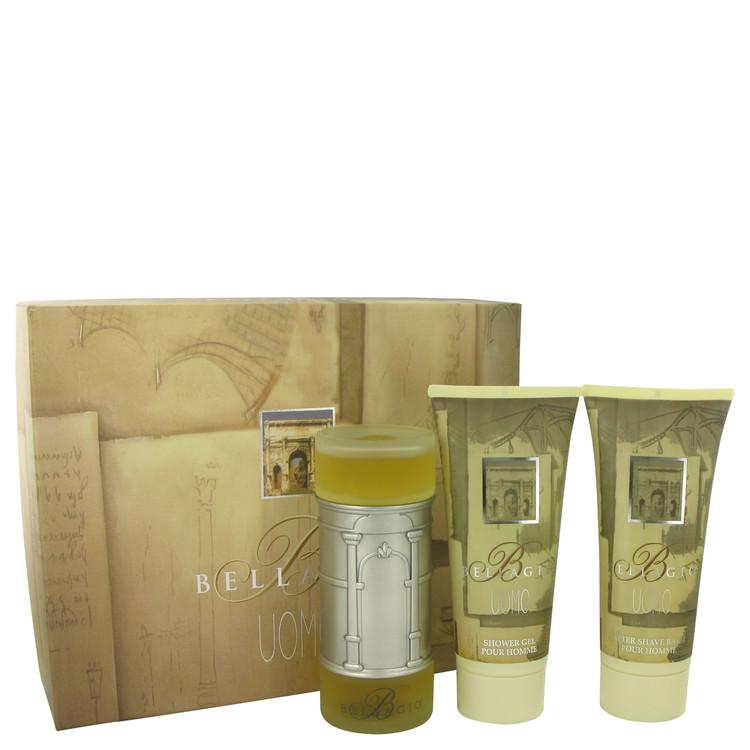 Bellagio by Bellagio Men's Gift Set -- 3.4 oz Eau De Toilette Spray + 6.8 oz Shower Gel + 6.8 oz After Shave Balm