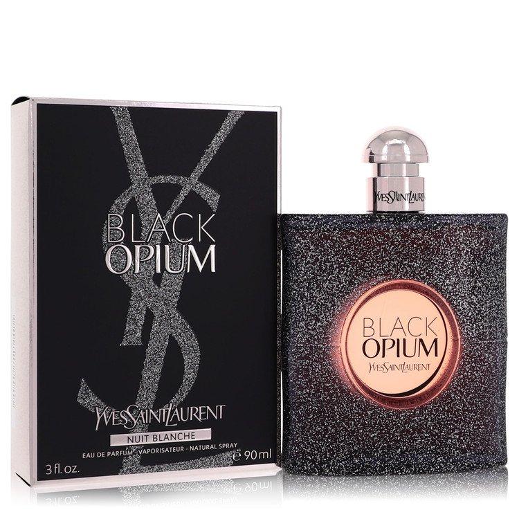 Black Opium Nuit Blanche by Yves Saint Laurent for Women Eau De Parfum Spray 3 oz