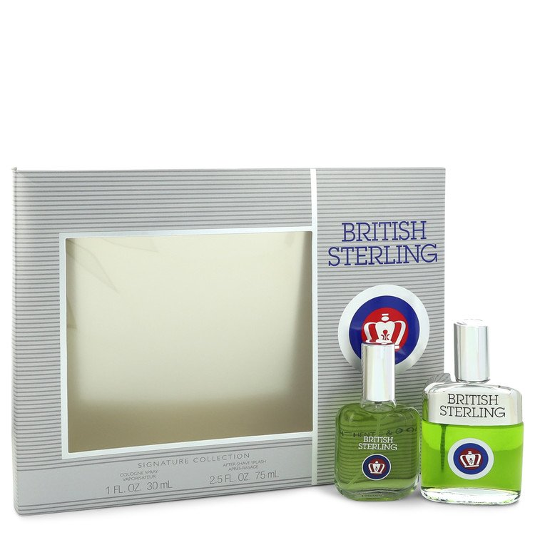British Sterling by Dana Men's Gift Set -- 1 oz Cologne Spray + 2.5 oz After Shave