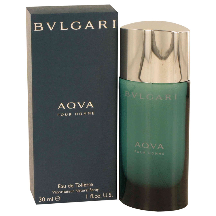 Aqua Pour Homme by Bvlgari for Men Eau De Toilette Spray 1 oz