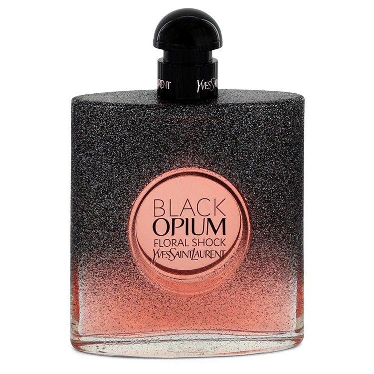 Black Opium Floral Shock by Yves Saint Laurent Women's Eau De Parfum Spray (Tester) 3 oz
