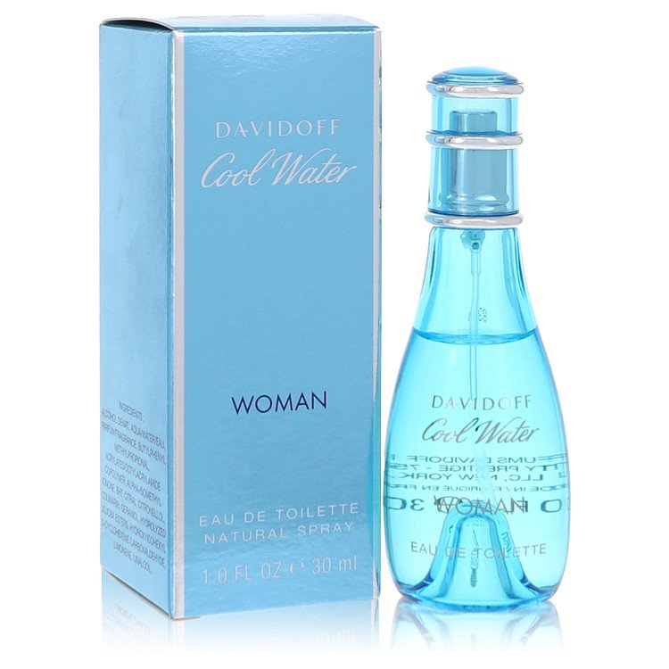 Cool Water by Davidoff Women's Eau De Toilette Spray 1 oz