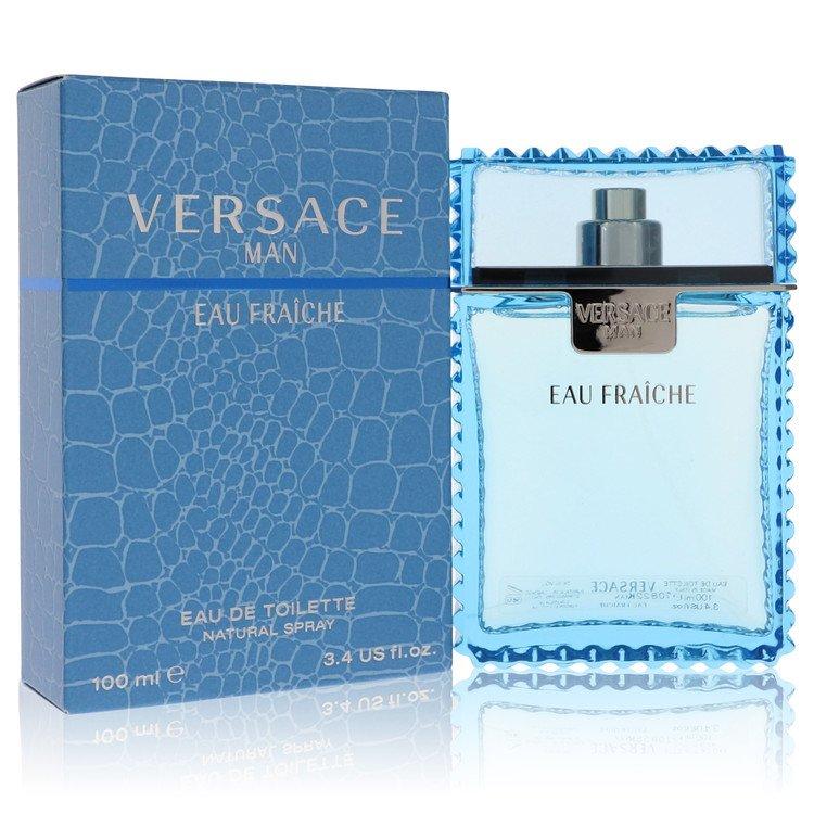 Versace Man by Versace for Men Eau Fraiche Eau De Toilette Spray (Blue) 3.4 oz