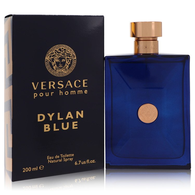 Versace Pour Homme Dylan Blue by Versace for Men Eau De Toilette Spray 6.7 oz