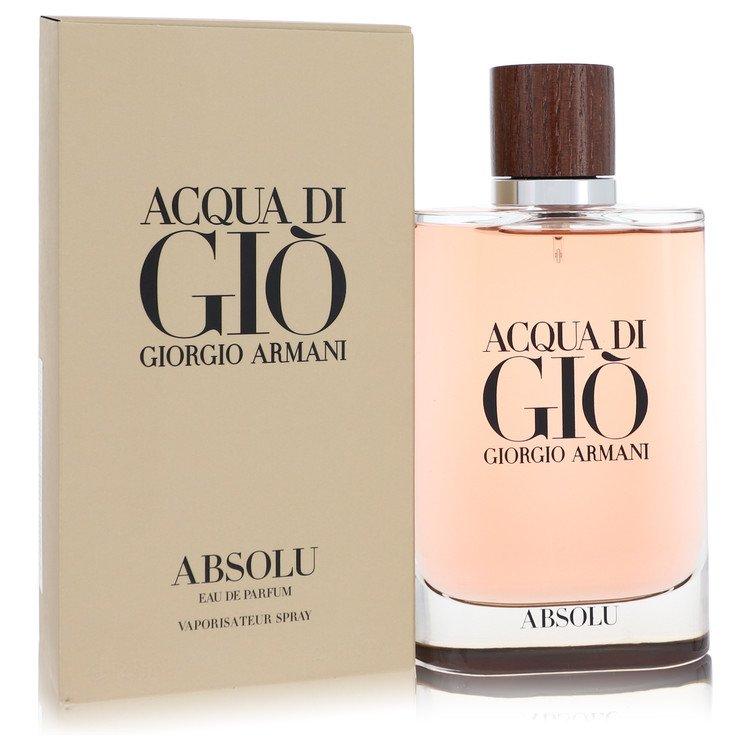Acqua Di Gio Absolu by Giorgio Armani Men's Eau De Parfum Spray 4.2 oz