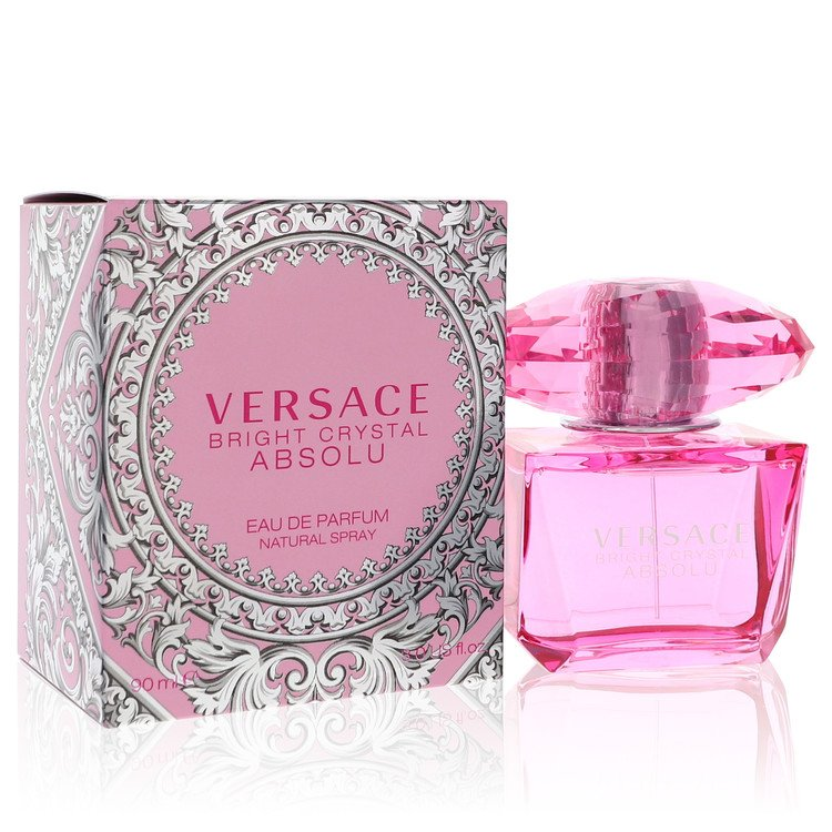 Bright Crystal Absolu by Versace for Women Eau De Parfum Spray 3 oz
